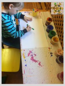 Gemeinsam Zeichnen Muttertagsfeier