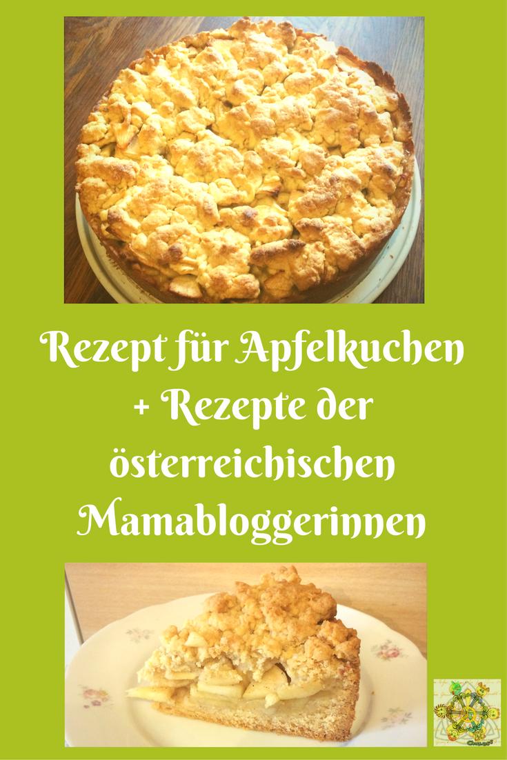 Rezept für Apfelkuchen +Rezepte der österreichischen Mamabloggerinnen