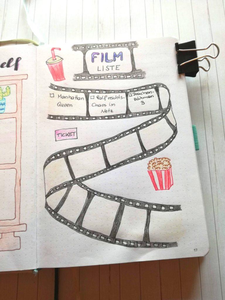 Bullet Journal Ideen Filmliste