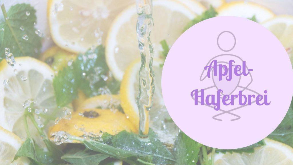Familienküche Apfel-Haferbrei Rezept Titel