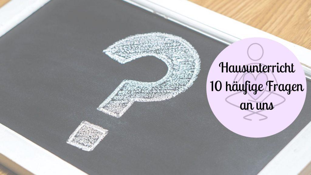 Hausunterricht häufige Fragen